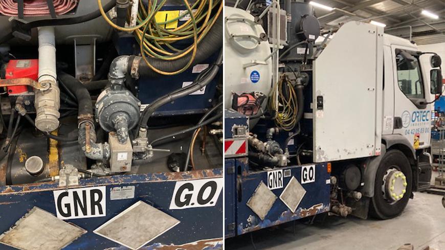 Installation d'un système de bicarburation GNR, GAS OIL