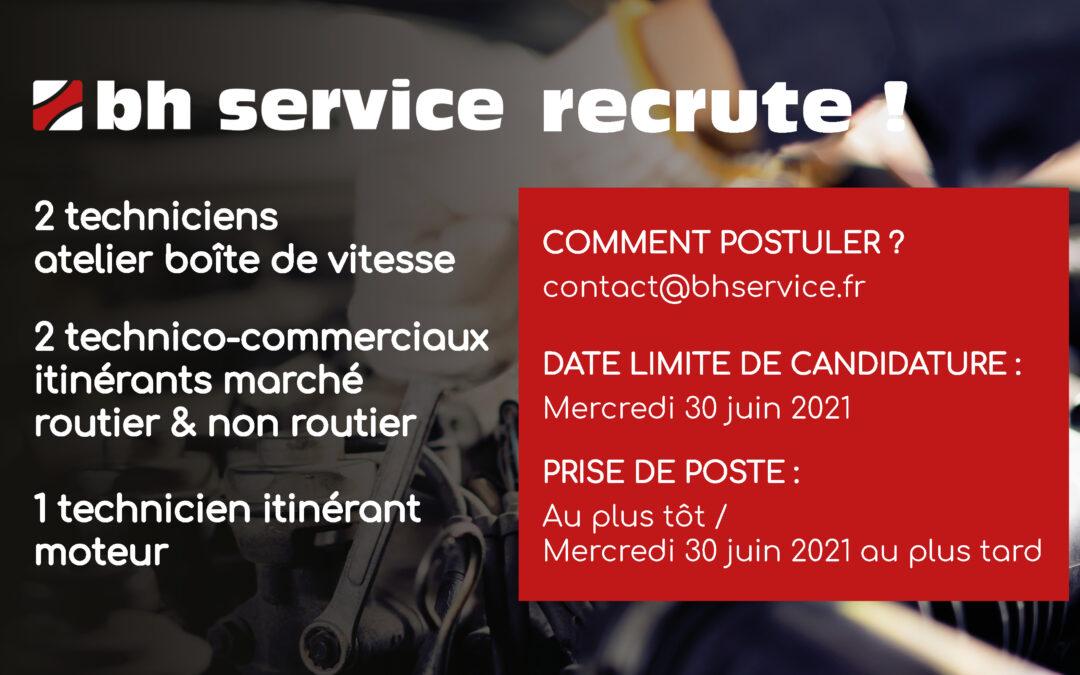 BH Service recrute !