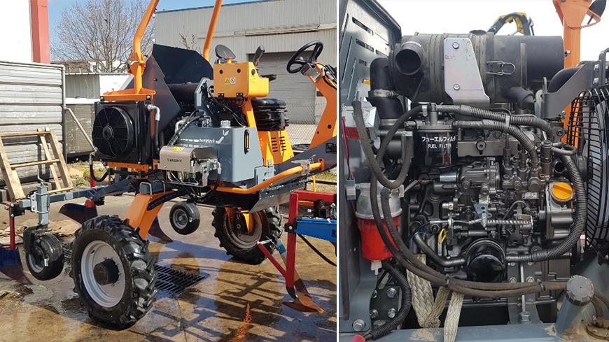 Remplacement d'un moteur YANMAR 3TNV88 sur machine agricole